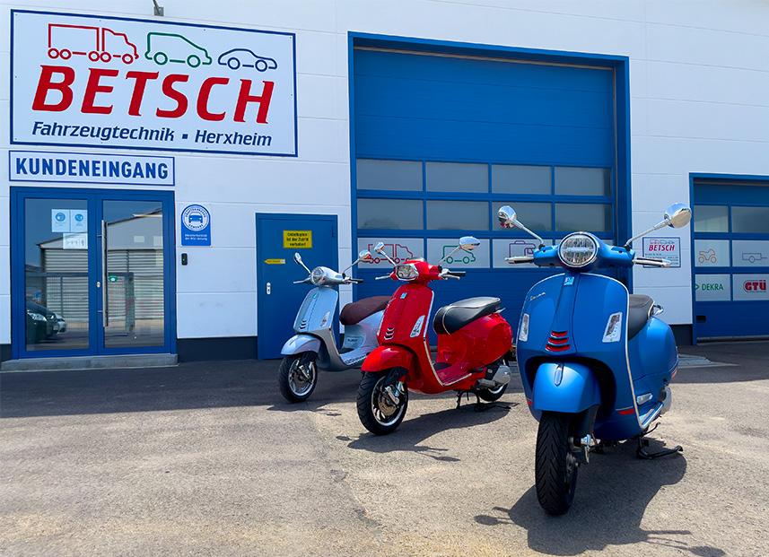 Bestch Fahrzeugtechnik Herxheim Vespa Verkauf Reparatur